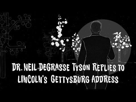 Video image: Neil deGrasse Tyson Replies to Lincoln's Gettysburg Address