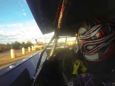 Cruz Skinner at 411 Motor Speedway (Left Shoulder GoPro Cam) 9-27-2014