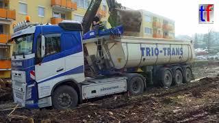 Scania, Volvo, Mercedes Tipper Trailer Trucks / Sattelkipper, Winnenden, 2018.