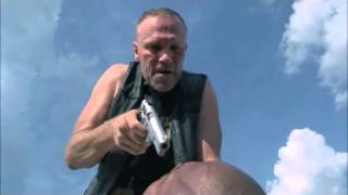 Merle & T-dog fight