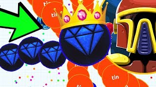 The AGAR.IO CANNON SPLIT KING is BACK! Agario DESTROYING Teams, NOOBS & PROS