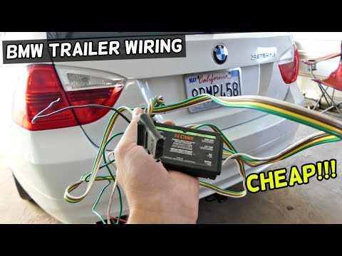 HOW TO INSTALL HITCH WIRING HARNESS ON BMW demonstrated on e90 e91 - YouTubeYouTube