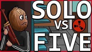 SOLO Player Infiltration | 1v5 MASSIVE Supermarket Base | Part 1 - RUST