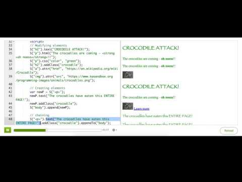 Chaining jQuery methods | Computer Programming | Khan Academy