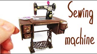 Miniature doll Sewing Machine No polymer clay