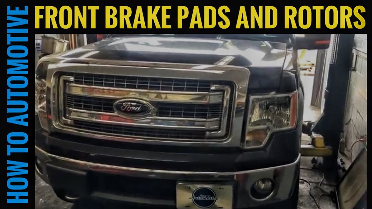 2012 Ford F 150 Xlt >> How to Replace the Front Brake Pads and Rotors on a 2012-2014 Ford F-150 XLT - YouTube