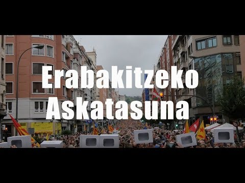 Cobertura│Manifestación Gure Esku Dago 1-O (Eneko Goia, Markel Olano, Arnaldo Otegi)