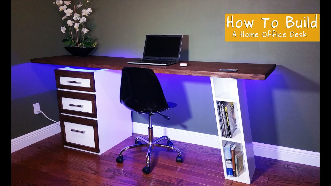 How To Build A Modern Desk For Your Home Office - YouTube