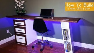 Watch me build a modern desk with floating top for my home office Subscribe To My Channel for more awesome videos http://bit.ly/