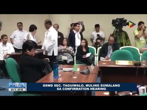 DSWD Sec. Taguiwalo, muling sumalang sa confirmation hearing