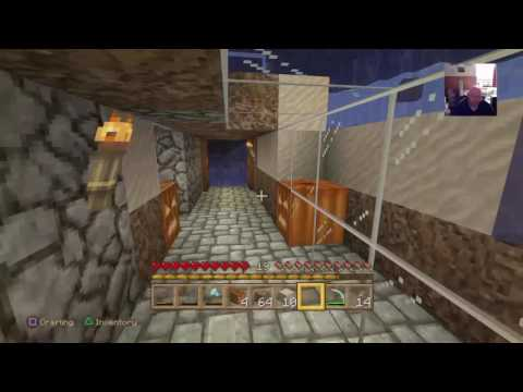 Minecraft Working on Tunnel to Island Pt 2