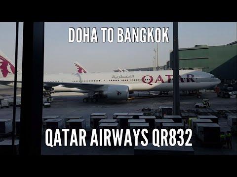 Qatar Airport ✈ Qatar Airways Economy Class ✈  Doha to Bangkok Full Flight ✈