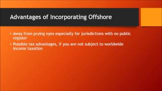 Advantages of Incorporating Offshore