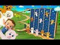 Learn Animals Names for Children with Little Baby Fun Play Animal Toys Tumbling Small World Toy Set