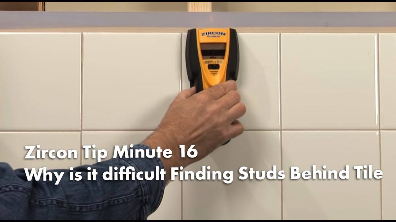Zircon Tip Minute 16 How To Find Wall Studs Behind Tile Kitchens Tracing Wiring Walls Bathrooms