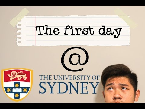 FIRST DAY AT UNI (UNIVERSITY OF SYDNEY)