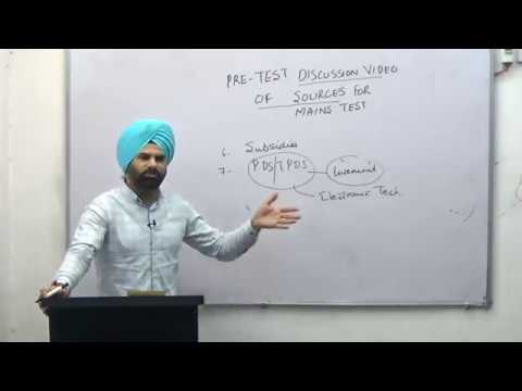 PRE TEST DISCUSSION VIDEO OF SOURCES OF MAINS TEST NO. 8