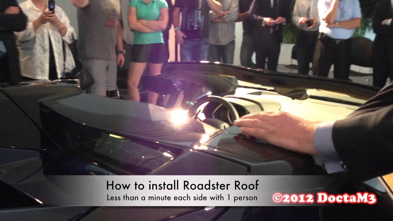 Removing Lamborghini Aventador Roadster S Top Is Quite A