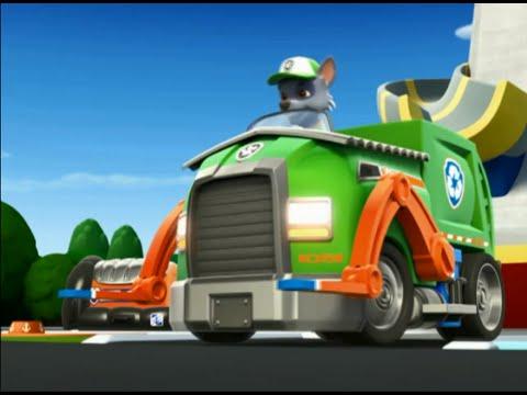 paw patrol rocky s recycling truck pawpatrol youtube