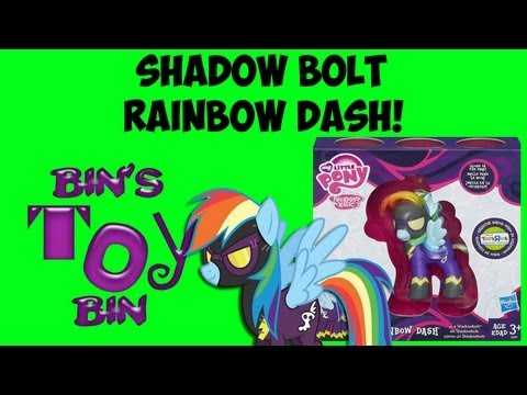 Shadow Bolt RAINBOW DASH Toys R Us 2013 Comic Con Exclusive My Little Pony Review! By Bin's Toy Bin