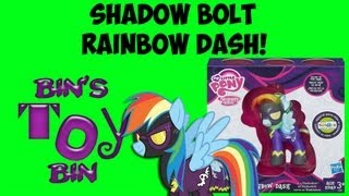 Shadow Bolt RAINBOW DASH Toys R Us 2013 Comic Con Exclusive My Little Pony Review! by Bin