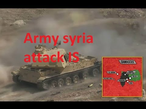 Syrian war: Syrian army attacks wipe out IS from Damascus, the Kurds openly against Syria
