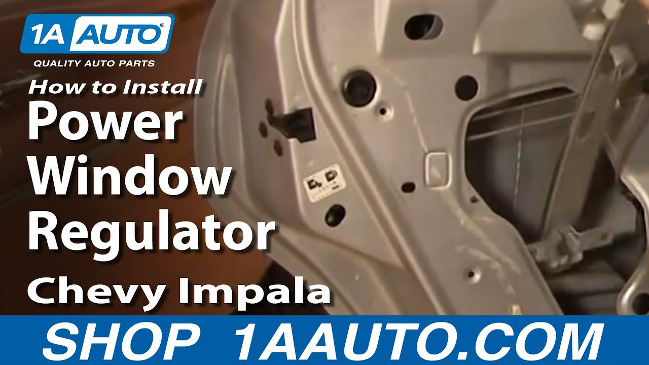 How To Install Repair Replace Power Window Regulator Chevy Impala 00