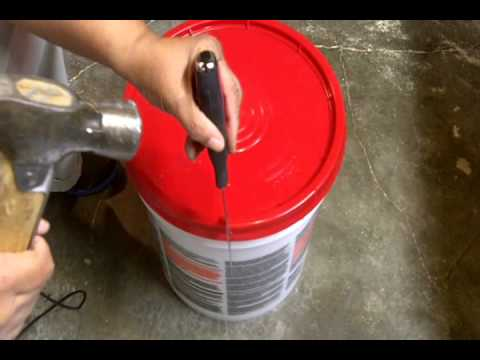 Quick Tip To Remove Lid From 5 Gallon Paint Or Joint
