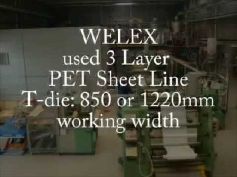 WELEX 3 Layer PET SHEET LINE for sale