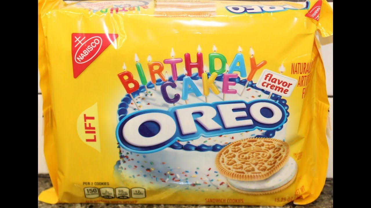 Golden Birthday Cake Oreo Cookie Review YouTube