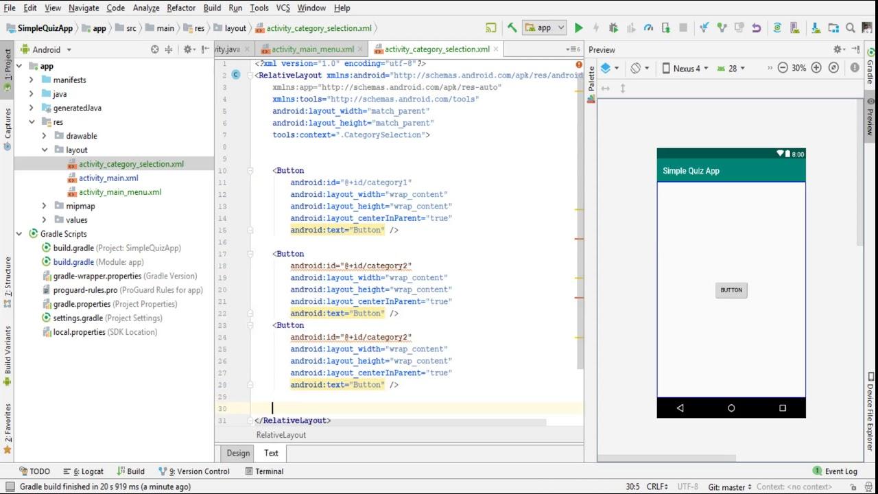Develop Simple Quiz App Android Studio 2019