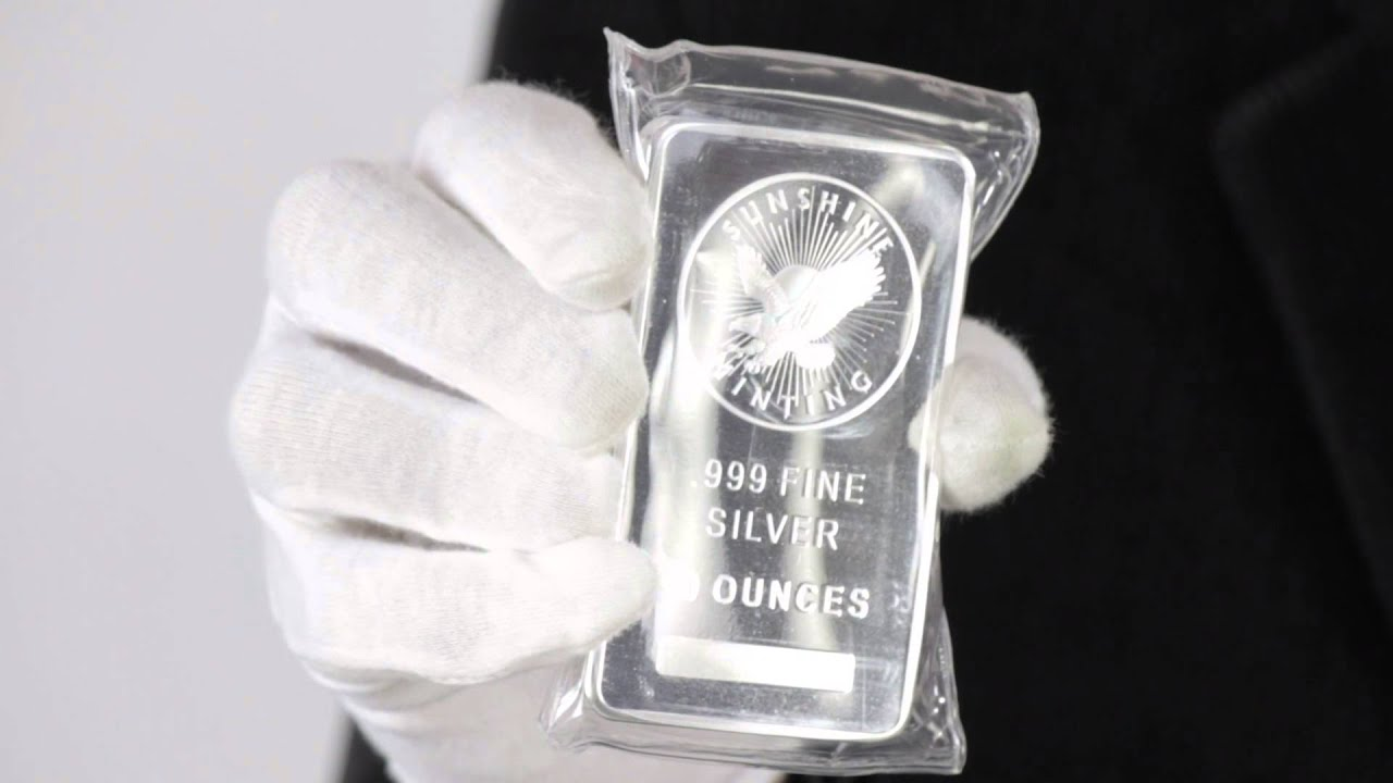10 Oz Sunshine Mint Silver Bar 999 Fine Goldmart Youtube