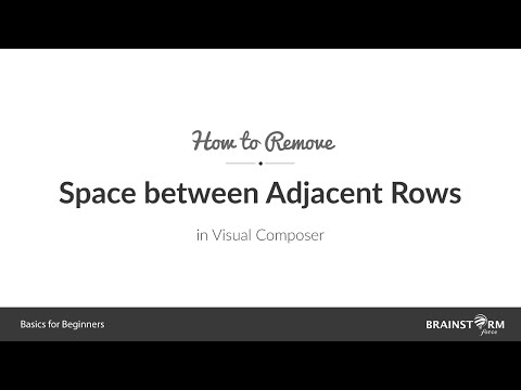 How to Remove Spaces Between Adjacent Rows - YouTube