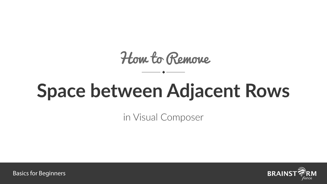 How to Remove Spaces Between Adjacent Rows