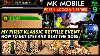 MK Mobile Fresh Acc๐unt Series Ep. 9. I Got Klassic Reptile! Klassic Reptile Event Tips and Tricks.