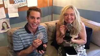 Tony Winners Ben Platt and Rachel Bay Jones Open Their Engraved Tony Awards