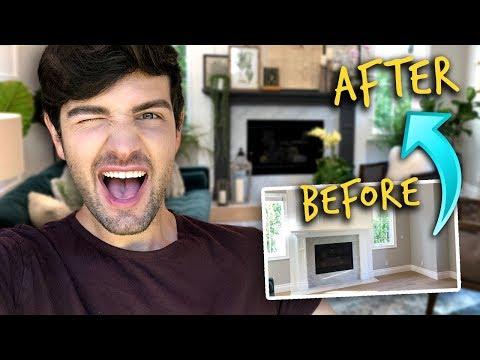 EXTREME DIY LIVING ROOM MAKEOVER! (Budget Friendly) | Mister Preda
