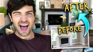 EXTREME DIY LIVING ROOM MAKEOVER! | Mister Preda