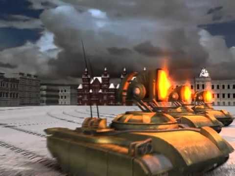C&C Red Alert 2 - Allied Mission 12 - Prism Tank Destroy Nuclear Missile  Silo