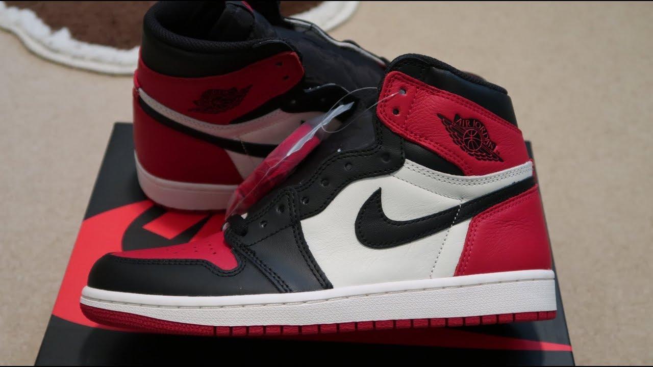 buy popular 3890a d515f Air Jordan 1 Retro High OG  Bred Toe  Sneaker Unboxing