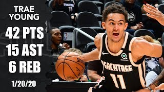 Trae Young drops 42 points and 15 assists in Raptors vs. Hawks | 2019-20 NBA Highlights