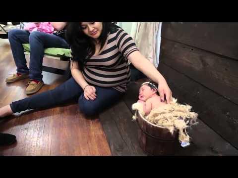 Съемка новорожденных. Фотосессия в студии