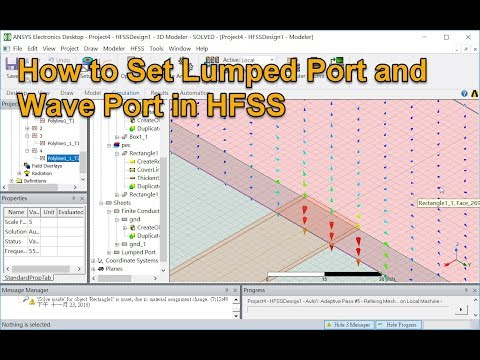 How to Set Lumped Port and Wave Port in HFSS