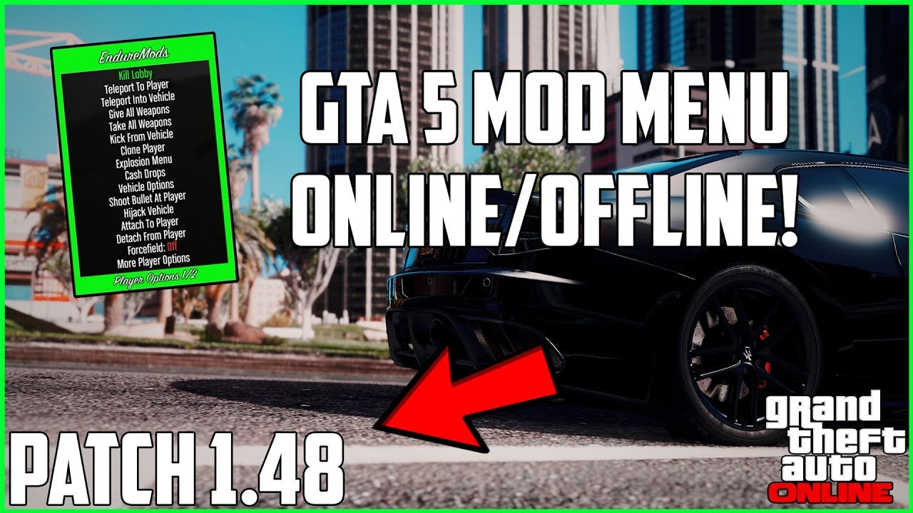 GTA 5 Online | How To Install Mod Menu On Patch 1 48! (Xbox One, PS4   XB360, & PS3) | NEW 2019!
