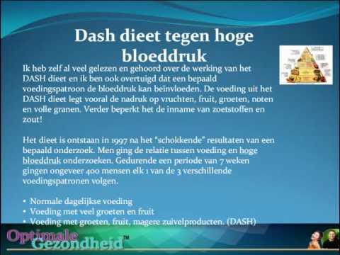Hoge Bloeddruk En Het DASH Dieet