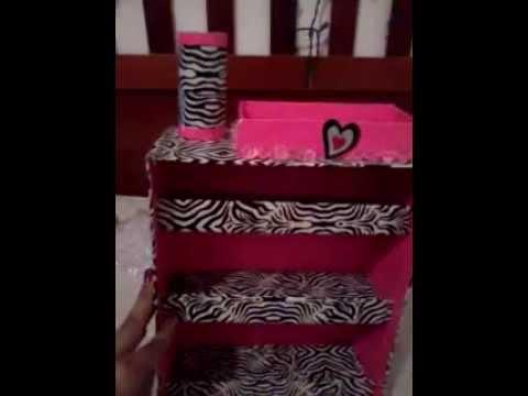 Organizador para esmaltes hecho con cart n youtube - Organizador de papeles ...