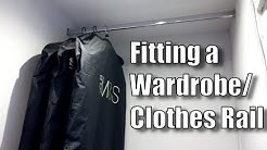 How to fit a Clothes Rail - Putting up a Wardrobe Rail in an Alcove