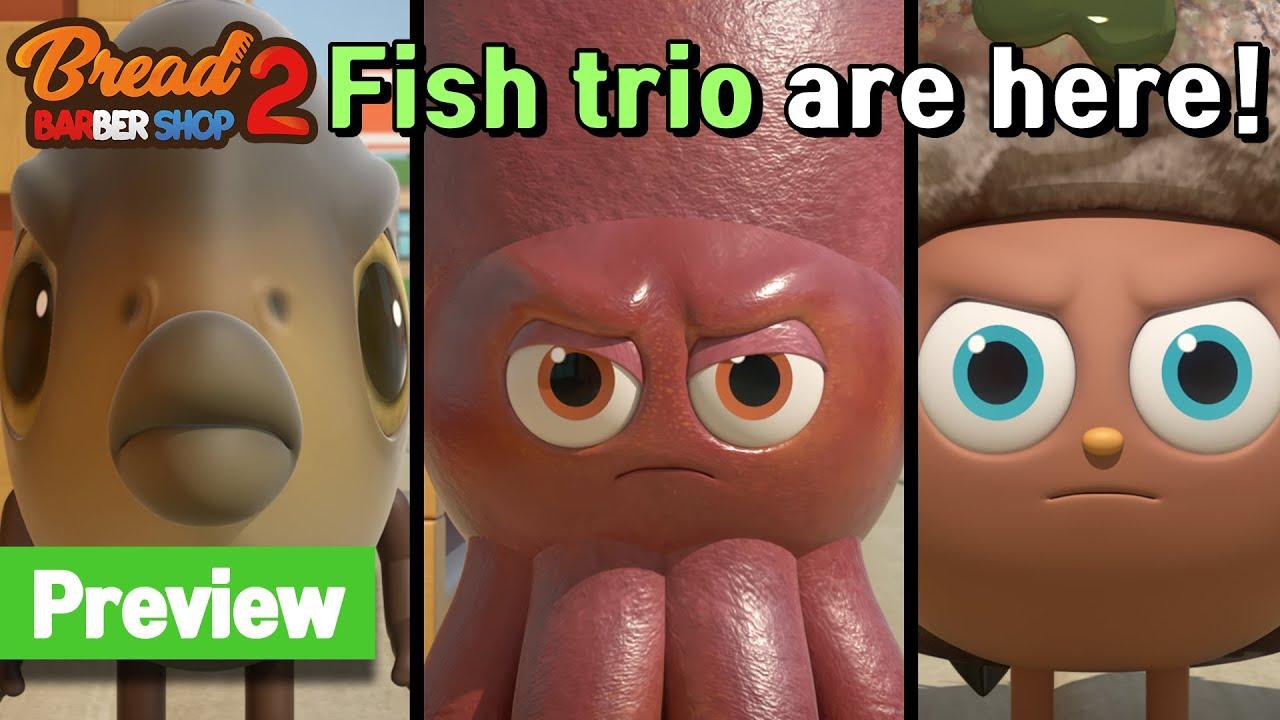 Download BreadBarbershop2 | ep13 | Crab or Cracker? | preview | english/animation/dessert/cartoon
