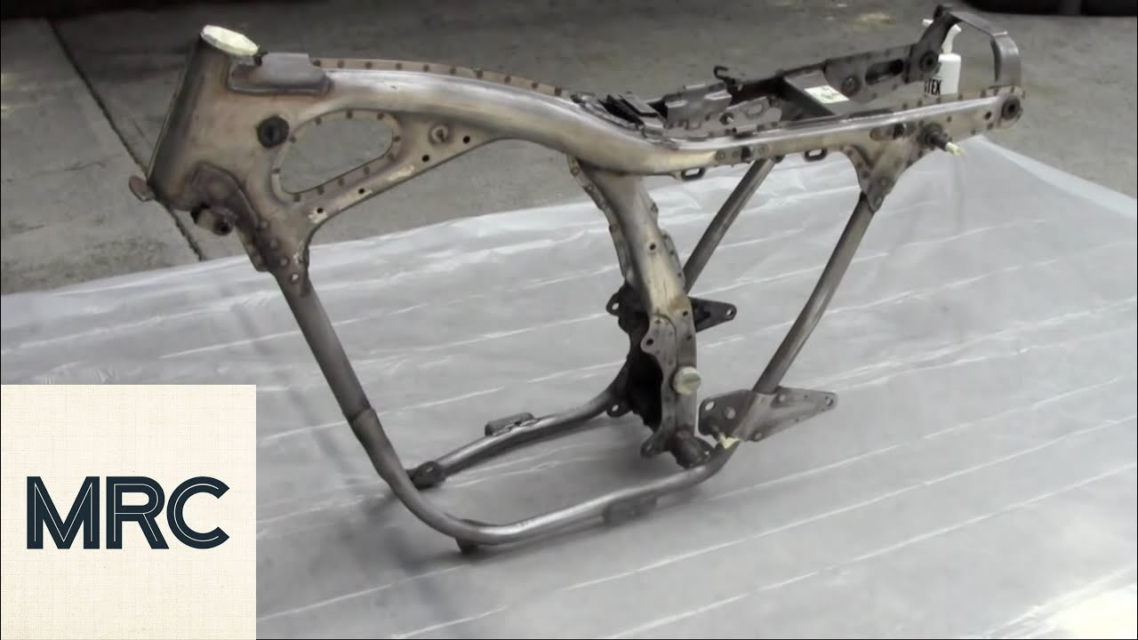How to Paint a Motorcycle Frame - YouTube