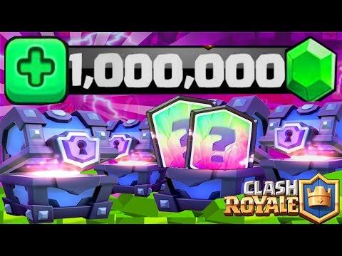 """Clash Royale Pack Opening """"1 MILLION DE GEMMES"""" 7500€ de SUPER MAGICAL CHEST !"""